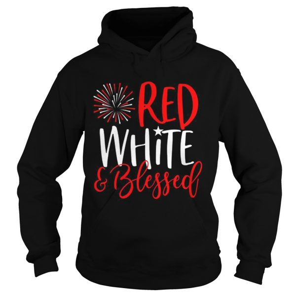 Red White And Blessed 4th of July Cute Patriotic America  Hoodie