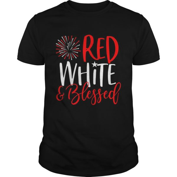 Red White And Blessed 4th of July Cute Patriotic America  Unisex
