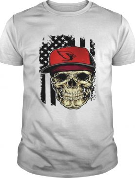 Skull Arizona Cardinals American flag shirt