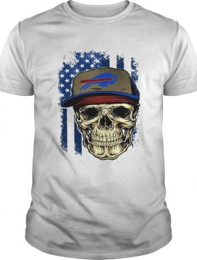 Skull hat Buffalo Bills American flag shirt