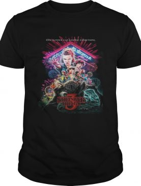 Stranger Things 3 poster one summer can change everything shirt