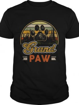 Vintage grand paw dog lover vintage sunset shirt