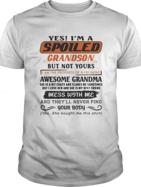 Yes Im A Spoiled Grandson But Not Yours I Am The Property Of A Freaking Premium Tshirt