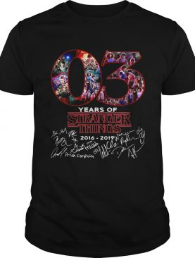 03 years of Stranger things 2008 2019 signatures shirt