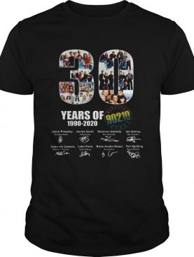 30 Years of 1990 2020 90210 signature shirt