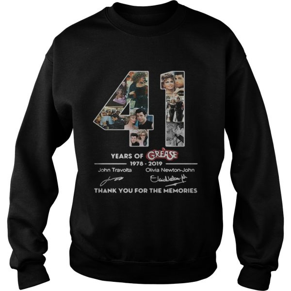 41 years of Grease 1978 2019 signature thank you for the Sweatshirt