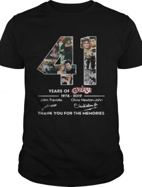 41 years of Grease 1978 2019 signature thank you for the shirt