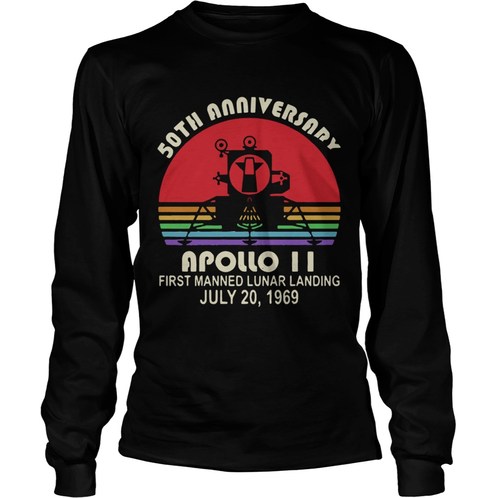 50th Anniversary apollo 11 first manned lunar landing July 201969 LongSleeve