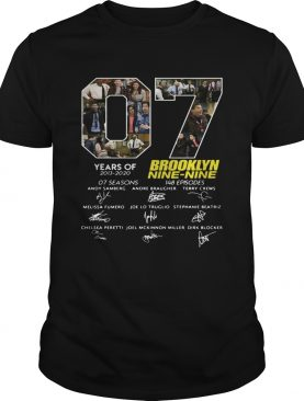 7 Years Of Brooklyn Nine Nine Signature shirt