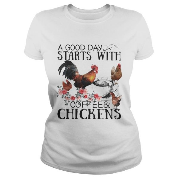 A good day starts with coffee and chicken  Classic Ladies