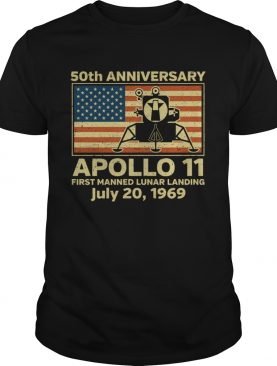 American flag apollo 11 first manned lunar landing July 20 1969 shirt