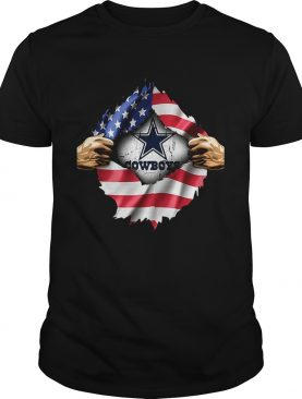 Dallas Cowboys inside America flag Independence day 4th of July shirt