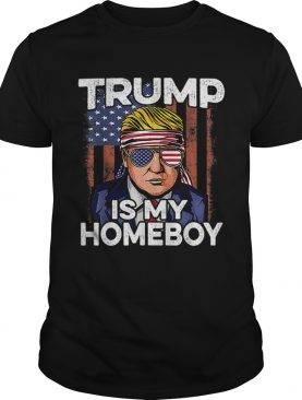 Donald Trump Is My Homeboy Glasses Headband Usa Flag 4th Of July shirt