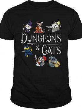 Dungeons and Cats Cartoon Character Cat Lover shirt