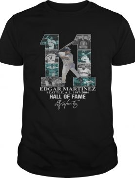 Edgar Martinez 11 Seattle Hall Of Fame signature shirt