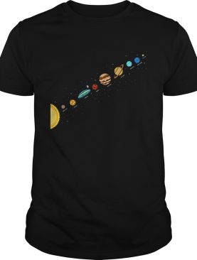 Flat Earth Believers Solar System View Flat Earth Society shirt