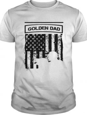 Golden Black Dad American Flag TShirt