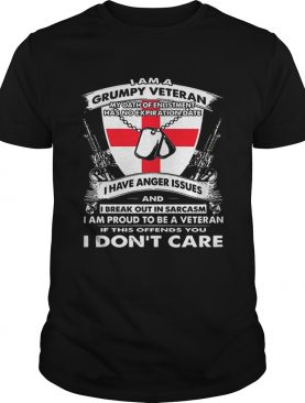 I am a grumpy veteran my oath of enlistment has no expiration date shirt