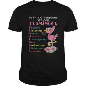 In This Classroom We Are Flamingo Focused Listening Active Mindful Shirt Unisex