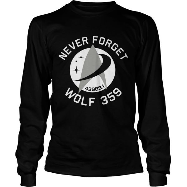 Never Forget Wolf 359  LongSleeve
