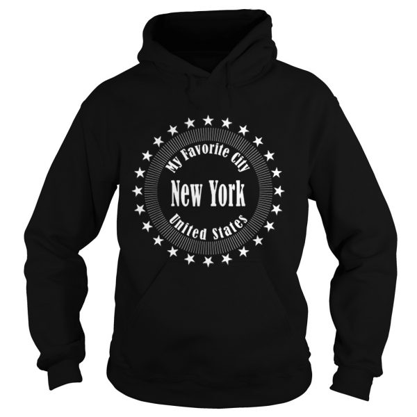 New York Is My Favorite City United States Of America  Hoodie