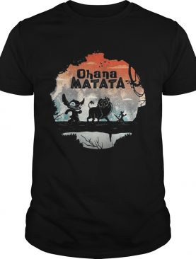 Ohana Matata Stitch The Lion King Pumbaa and Timon shirt