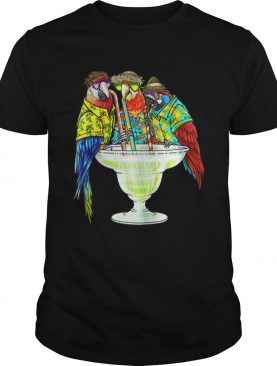 Original Parrots Drinking Margarita Hawaiin shirt