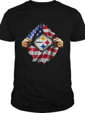Pittsburgh Steelers inside America flag Independence day 4th of shirt