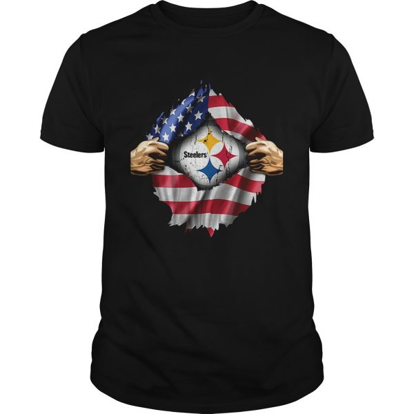Pittsburgh Steelers inside America flag Independence day 4th of Unisex