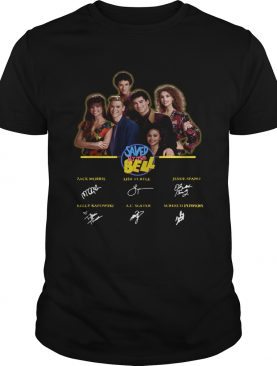 Saved by the bell characters signatures shirt