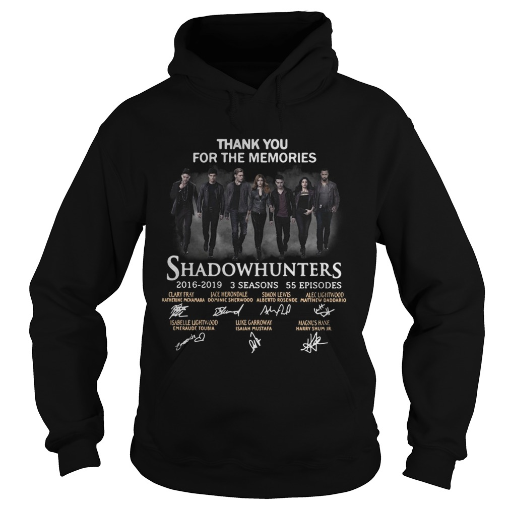 Shadowhunters 2016 2019 signature thank you for the memories Hoodie
