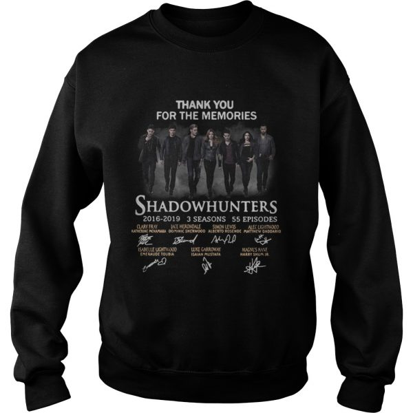 Shadowhunters 2016 2019 signature thank you for the memories Sweatshirt
