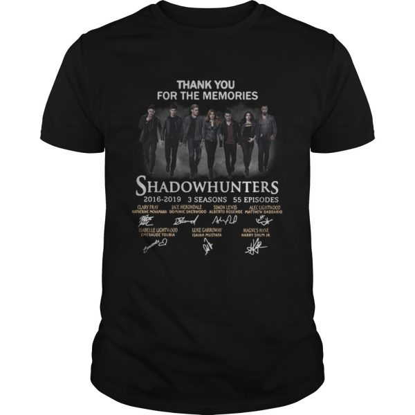 Shadowhunters 2016 2019 signature thank you for the memories Unisex