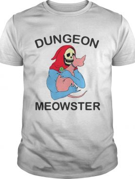 Skull hugging cat Dungeon meowster shirt