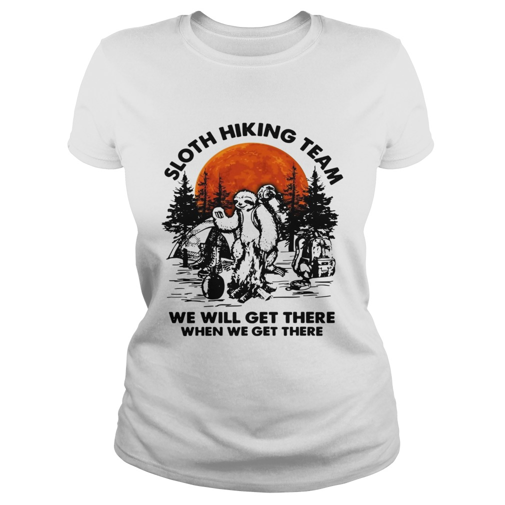 Men Kids t-Shirt Sloth Hiking Team We Will Get There When We Get There Tshirt