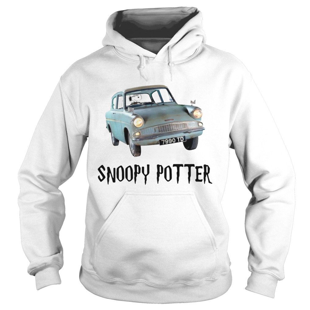Snoopy driving Harry Potter Hoodie