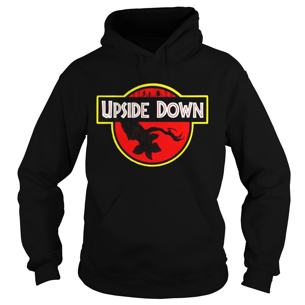 Stranger Things Upside Down Jurassic Park Badge TShirt Hoodie