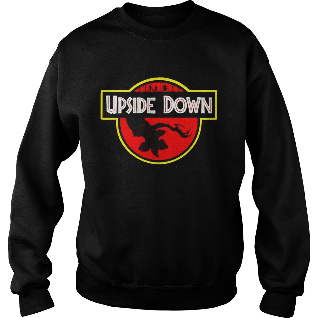 Stranger Things Upside Down Jurassic Park Badge TShirt Sweatshirt