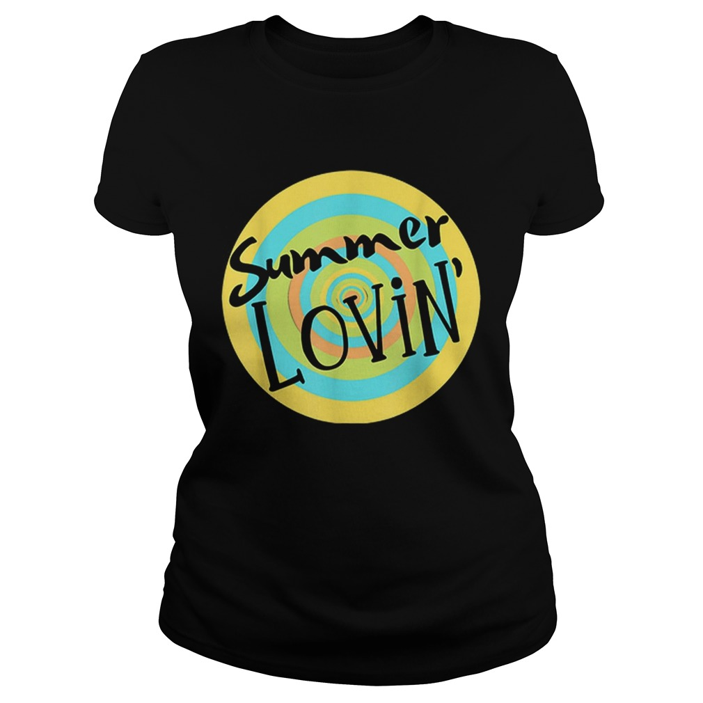 Summer Lovin Beach Vibes Men Women Youth Rainbow Circle Fun Classic Ladies