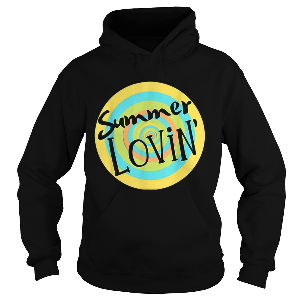 Summer Lovin Beach Vibes Men Women Youth Rainbow Circle Fun Hoodie