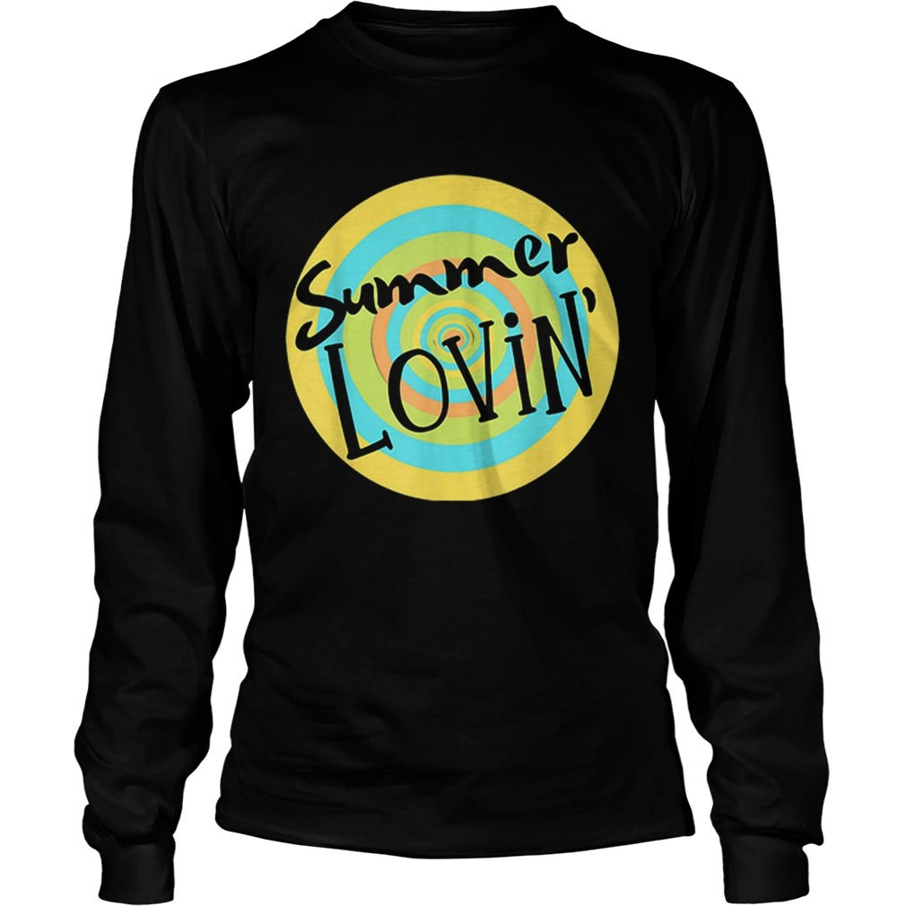 Summer Lovin Beach Vibes Men Women Youth Rainbow Circle Fun LongSleeve