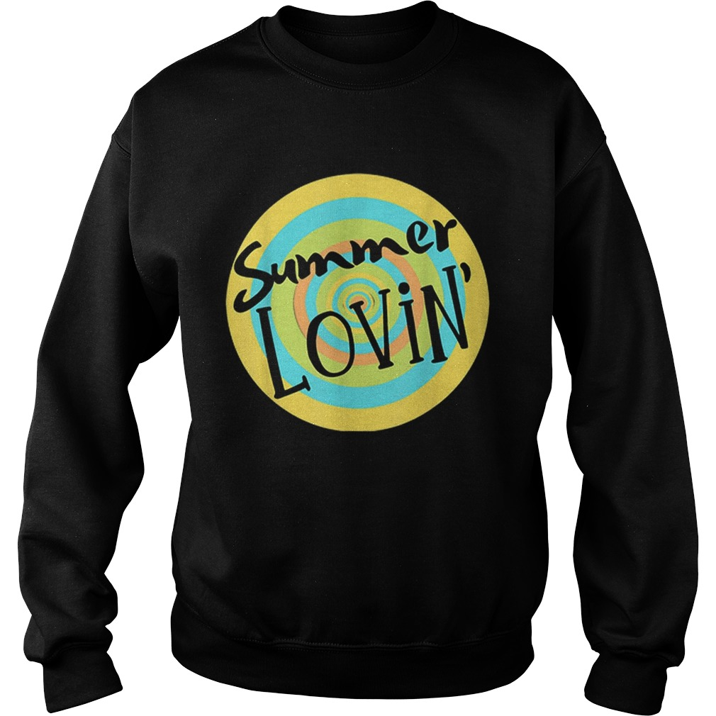 Summer Lovin Beach Vibes Men Women Youth Rainbow Circle Fun Sweatshirt