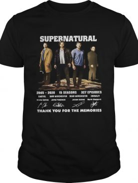 Supernatural 20052020 thank you for the memories signatures shirt