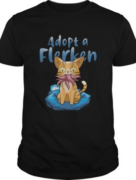 Top Adopt A Flerken Cat Eating Octopus shirt