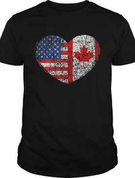 USA Canada HeartDual Citizenship shirt