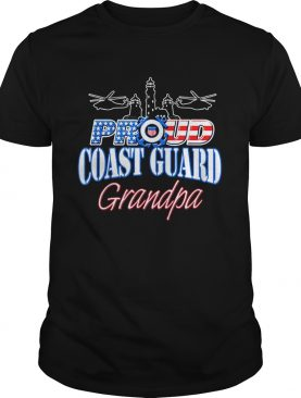 USA Proud Coast Guard Grandpa USA Flag Military shirt