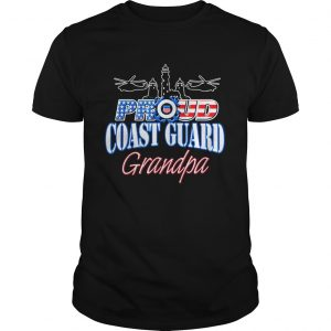 USA Proud Coast Guard Grandpa USA Flag Military  Unisex