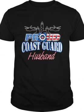 USA Proud Coast Guard Husband USA Flag Military shirt