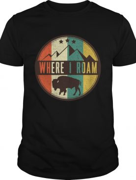 Where I roam Bull shirt