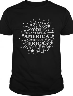 You Cant Spell America Without Erica Stranger Things Firework TShirt